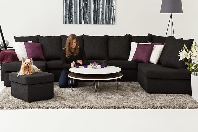 crazy u sofa xxl h yre svart. Black Bedroom Furniture Sets. Home Design Ideas