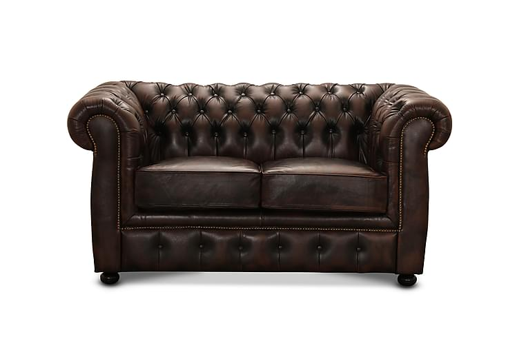 Birmingham Sofa 2-seters - Sofa lær/spalt brun - Møbler - Sofaer - Howard-sofaer