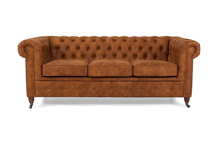 Chesterfield Deluxe 3-seters Sofa - Konjakk - Møbler - Sofaer - Howard-sofaer