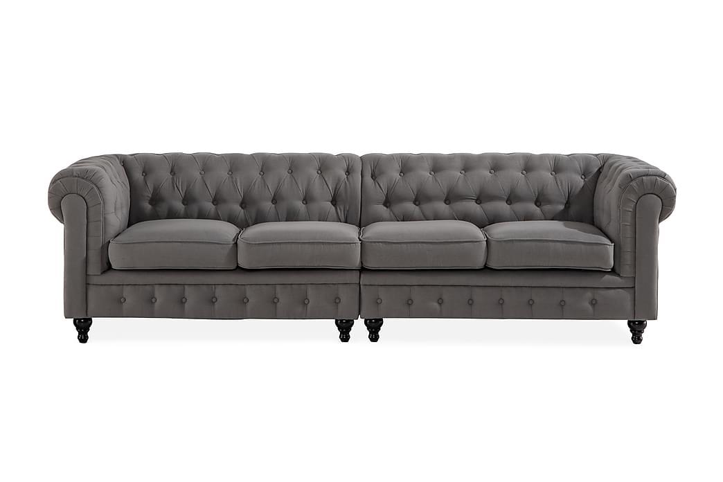Chesterfield Lyx 4-seters Sofa - Grå - Møbler - Sofaer - Howard-sofaer