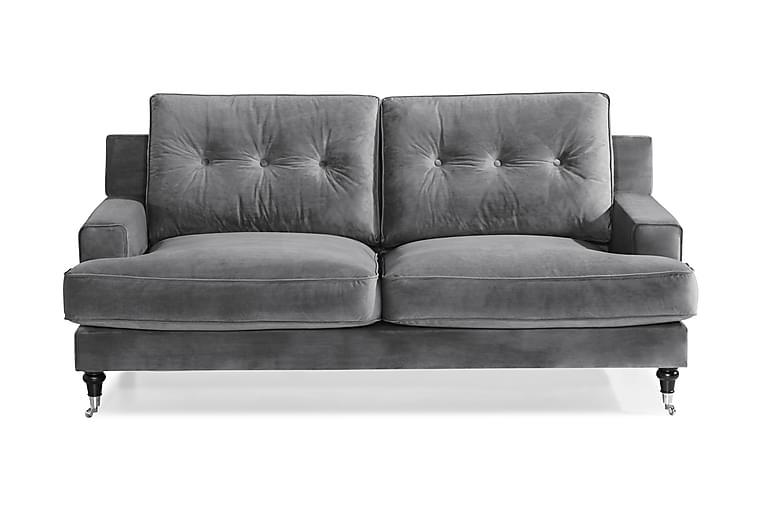 Dalby 2-seters Sofa Fløyel - Sølvgrå - Møbler - Sofaer - Howard-sofaer