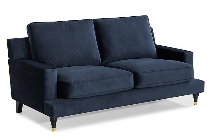 Djursholm 2-seters Sofa Fløyel - Midnattsblå - Møbler - Sofaer - 2-4-seters sofaer