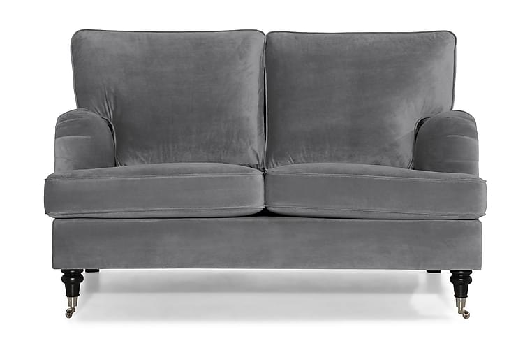 Howard Classic Fløyelssofa 2-seter - Sølvgrå - Møbler - Sofaer - Howard-sofaer