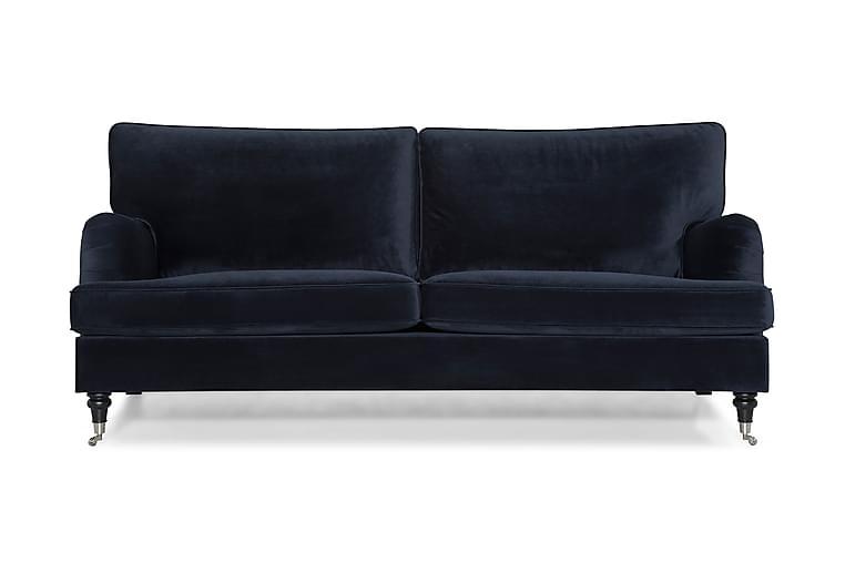 Howard Classic Fløyelssofa 3,5-seter - Midnattsblå - Møbler - Sofaer - Howard-sofaer
