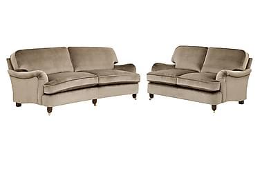Howard Deluxe Sofagruppe 3-seter+2-seter Fløyel