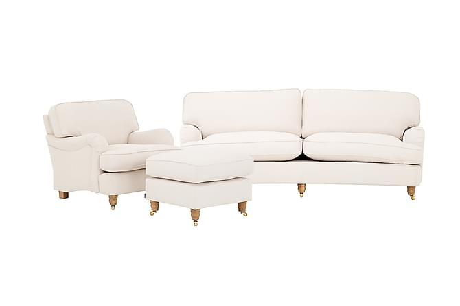 Howard Deluxe Sofagruppe 3-seter+Lenestol+Fotskammel - Beige - Møbler - Sofaer - Howard-sofaer