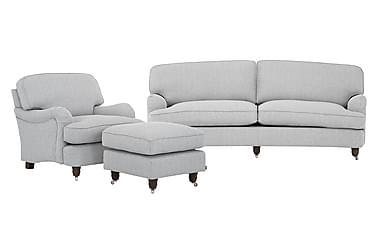 Howard Deluxe Sofagruppe 3-seter+Lenestol+Fotskammel
