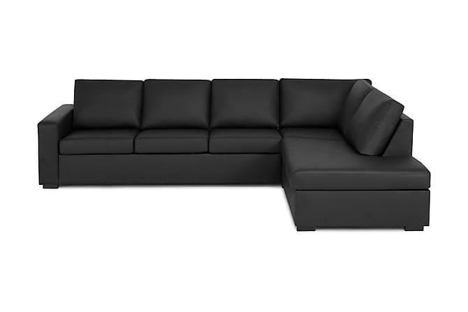 Crazy 3-seters Sofa med Sjeselong Høyre - Svart - Møbler - Sofaer - Sofaer med sjeselong & U-sofaer