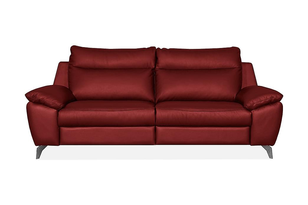 PERLE 2,5-seters Sofa - Rød - Møbler - Sofaer - Skinnsofaer