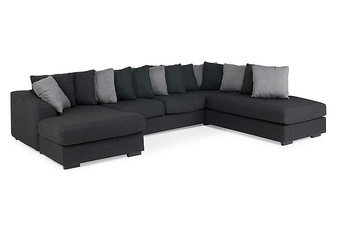 Alabama U-sofa med Divan Venstre - Mørkegrå - Møbler - Sofaer - Sofaer med sjeselong & U-sofaer