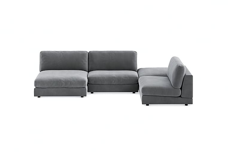 Arken U-modulsofa Fløyel - Lysegrå - Møbler - Sofaer - Sofaer med sjeselong & U-sofaer