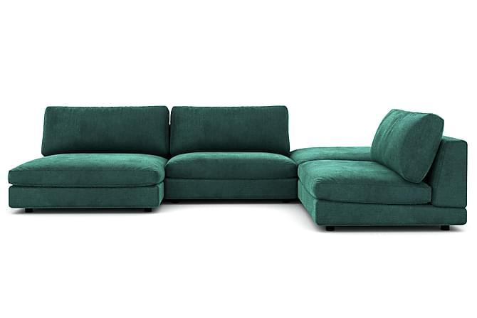 Arken U-modulsofa Fløyel - Mørkegrønn - Møbler - Sofaer - Sofaer med sjeselong & U-sofaer