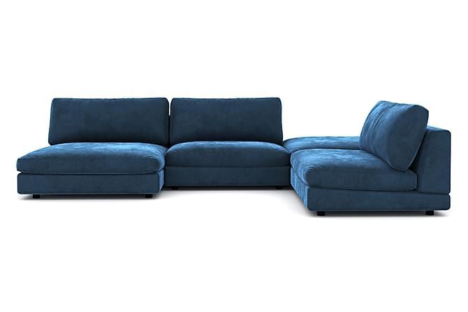 Arken U-modulsofa Fløyel - Midnattsblå - Møbler - Sofaer - Sofaer med sjeselong & U-sofaer