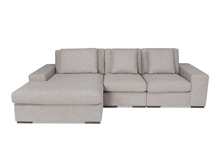 Bellinor Sofa med Sjeselong Venstre - Grå - Møbler - Sofaer - Sofaer med sjeselong & U-sofaer
