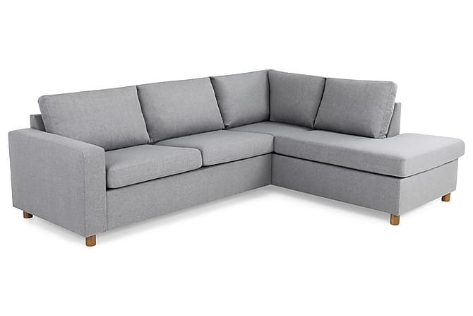 Crazy 2,5-seters Sofa med Sjeselong Høyre - Lysegrå - Møbler - Sofaer - Sofaer med sjeselong & U-sofaer