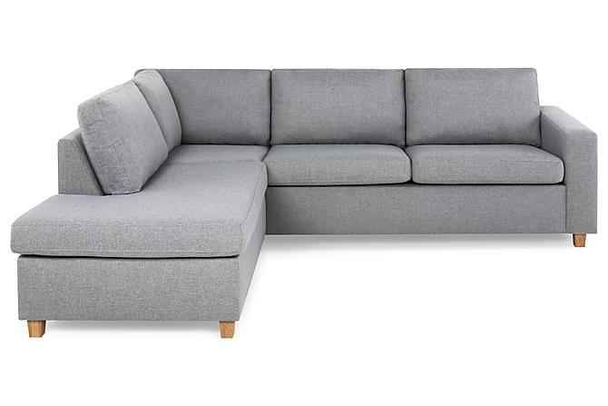 Crazy 2,5-seters Sofa med Sjeselong Venstre - Lysegrå - Møbler - Sofaer - Sofaer med sjeselong & U-sofaer