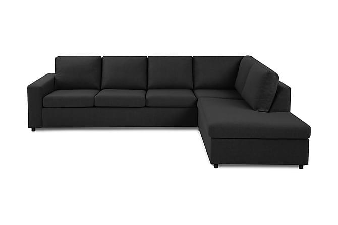 Crazy 3-seters Sofa med Sjeselong Høyre - Antrasitt - Møbler - Sofaer - Sofaer med sjeselong & U-sofaer