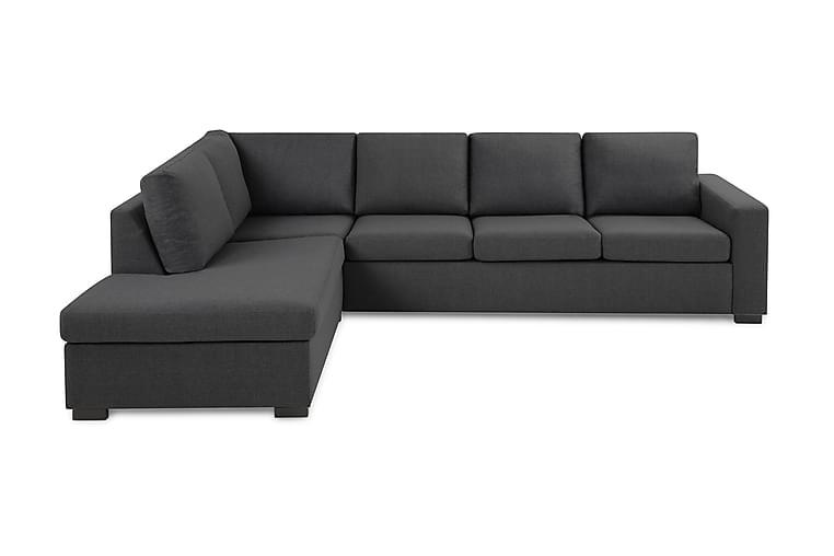 Crazy 3-seters Sofa med Sjeselong Venstre - Mørkegrå - Møbler - Sofaer - Sofaer med sjeselong & U-sofaer