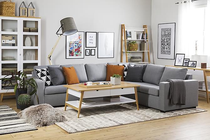 Crazy Hjørnesofa Large Vendbar - Lysegrå - Møbler - Sofaer - Sofaer med sjeselong & U-sofaer