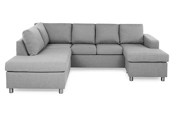 Crazy U-sofa Large Divan Høyre - Lysegrå - Møbler - Sofaer - Sofaer med sjeselong & U-sofaer