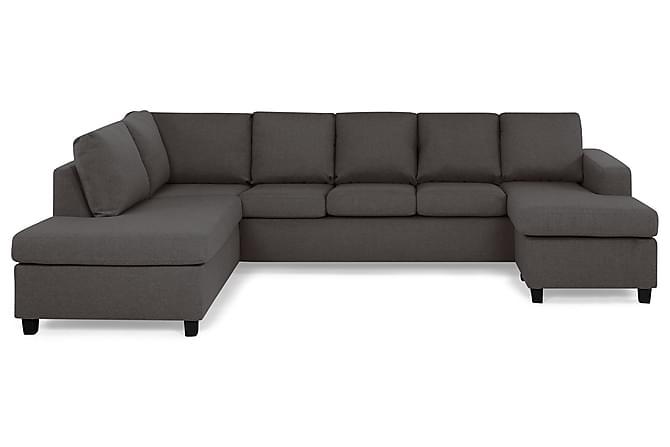 Crazy U-sofa XL Divan Høyre - Mørkegrå - Møbler - Sofaer - Sofaer med sjeselong & U-sofaer