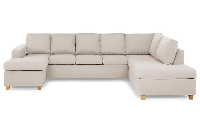 Crazy U-sofa XL Divan Venstre - Beige - Møbler - Sofaer - Sofaer med sjeselong & U-sofaer