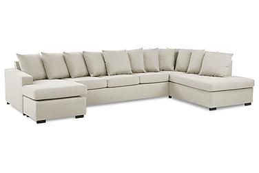 Crazy U-sofa XL Divan Venstre inkl. Konvoluttputer