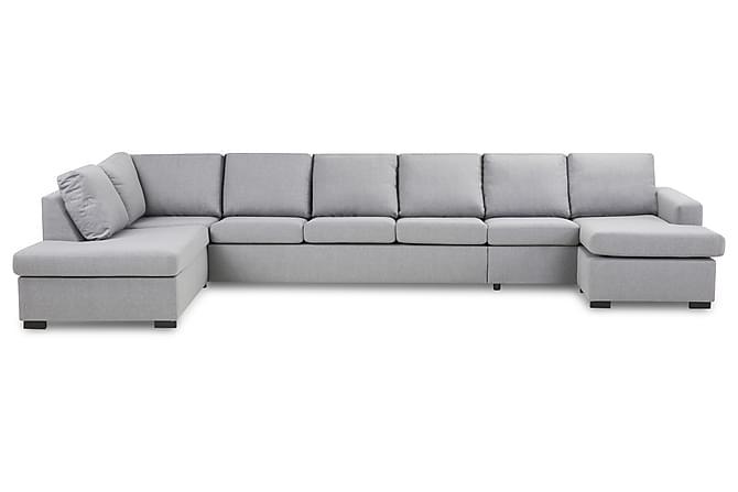 Crazy U-sofa XXL Divan Høyre - Lysegrå - Møbler - Sofaer - Sofaer med sjeselong & U-sofaer