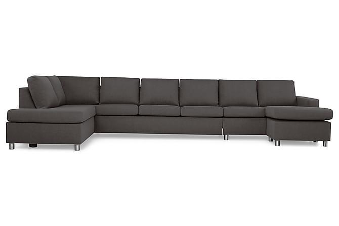 Crazy U-sofa XXL Divan Høyre - Mørkegrå - Møbler - Sofaer - Sofaer med sjeselong & U-sofaer