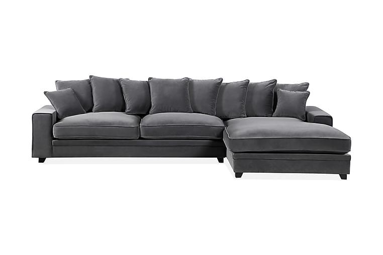Cricklade 3-seter Sofa Høyre - Mørkegrå - Møbler - Sofaer - Sofaer med sjeselong & U-sofaer