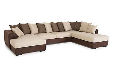 Cuba U-sofa med Divan Venstre inkl. Konvoluttputer