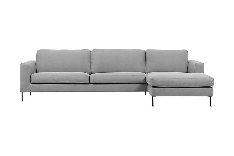 Cucito 2,5-seter Sofa med Sjeselong Høyre - Grå - Møbler - Sofaer - Sofaer med sjeselong & U-sofaer