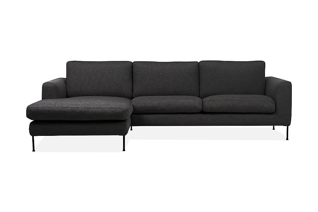 Cucito 2,5-seter Sofa med Sjeselong Venstre - Mørkegrå - Møbler - Sofaer - Sofaer med sjeselong & U-sofaer