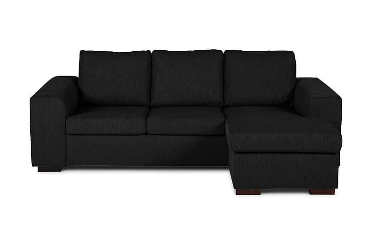 Link Divansofa 3-seter Vendbar - Svart - Møbler - Sofaer - Sofaer med sjeselong & U-sofaer
