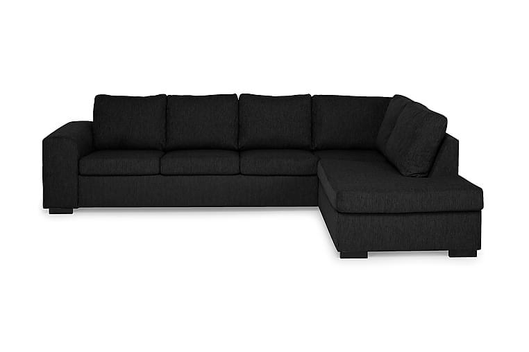 Link Sofa med Sjeselong Large Høyre - Svart - Møbler - Sofaer - Sofaer med sjeselong & U-sofaer