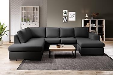 Memphis U-sofa med Divan Høyre Kunstlær