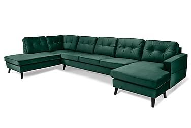 Monroe U-sofa Large med Divan Høyre Fløyel