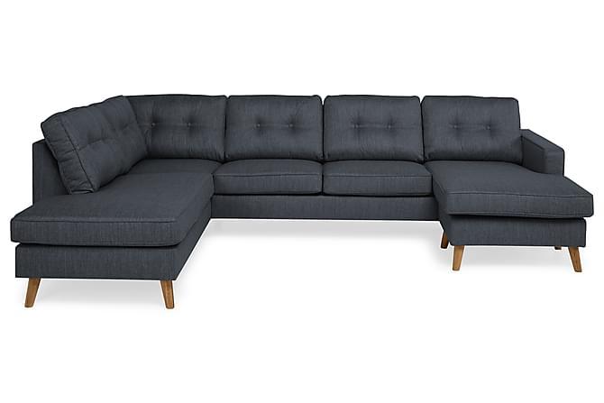 Monroe U-sofa med Divan Høyre - Mørkeblå - Møbler - Sofaer - Sofaer med sjeselong & U-sofaer