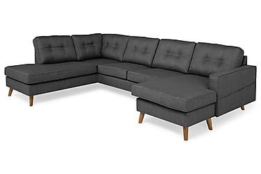 Monroe U-sofa med Divan Høyre Vaskbart Stoff