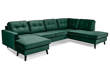 Monroe U-sofa med Divan Venstre Fløyel