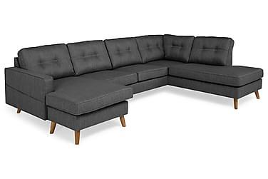 Monroe U-sofa med Divan Venstre Vaskbart Stoff