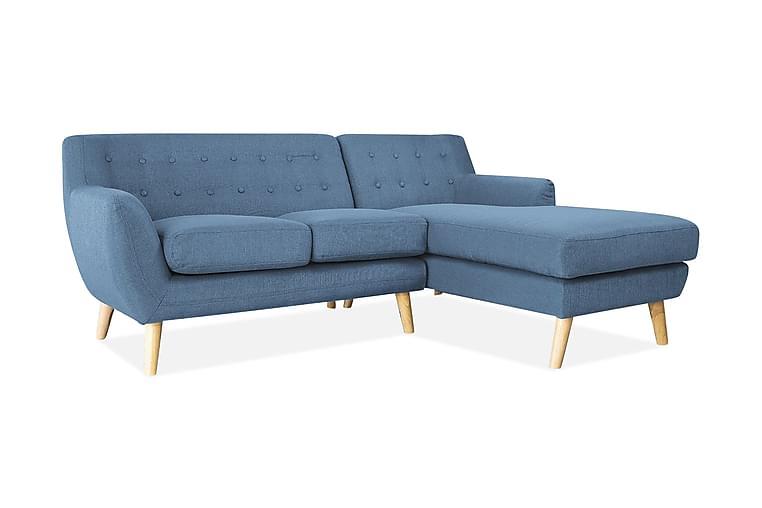 Motala Hjørnesofa 140 cm - Blå - Møbler - Sofaer - Sofaer med sjeselong & U-sofaer