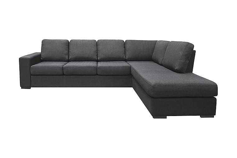 Nebraska Divansofa 4-seter Høyre - Mørkegrå - Møbler - Sofaer - Sofaer med sjeselong & U-sofaer