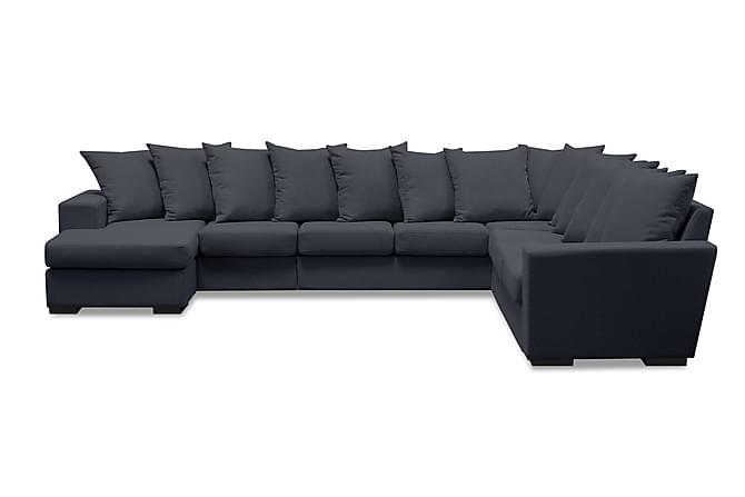 Nebraska Hjørnesofa med Divan Vendbar Konvoluttputer - Mørkegrå - Møbler - Sofaer - Sofaer med sjeselong & U-sofaer