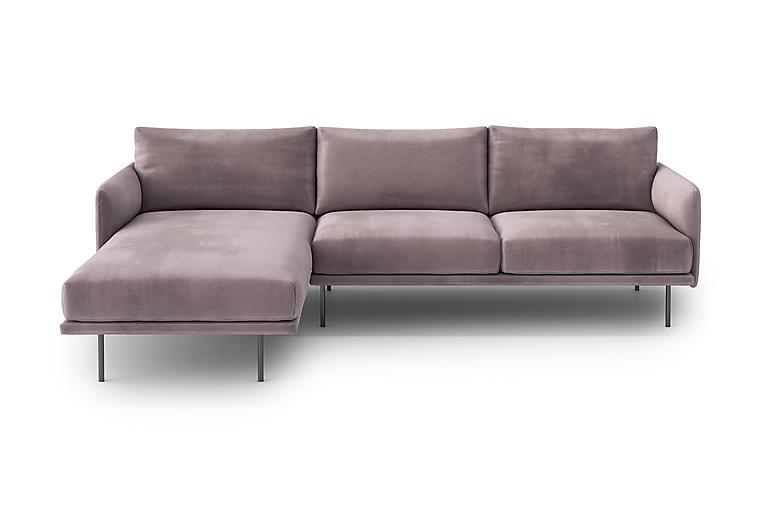 Noraima 4-seter Divansofa - Rosa - Møbler - Sofaer - Sofaer med sjeselong & U-sofaer
