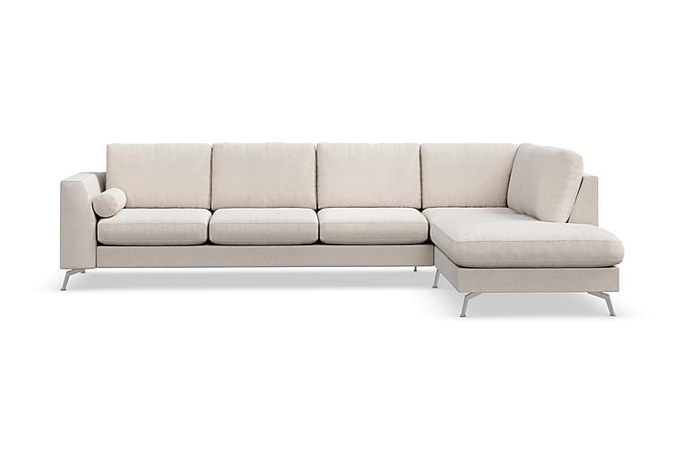 Ocean Lyx 4-seters Sofa med Sjeselong Høyre - Beige - Møbler - Sofaer - Sofaer med sjeselong & U-sofaer