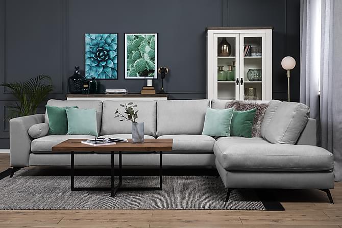 Ocean Lyx 4-seters Sofa med Sjeselong Høyre - Grå - Møbler - Sofaer - Sofaer med sjeselong & U-sofaer