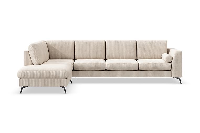 Ocean Lyx 4-seters Sofa med Sjeselong Venstre - Beige - Møbler - Sofaer - Sofaer med sjeselong & U-sofaer