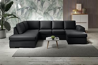 Ocean U-sofa Large med Divan Høyre Kunstlær