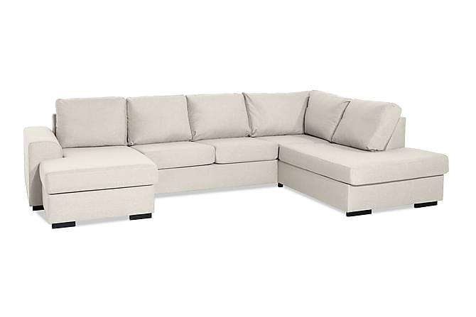 Ocean U-sofa Large med Divan Venstre - Beige - Møbler - Sofaer - Sofaer med sjeselong & U-sofaer